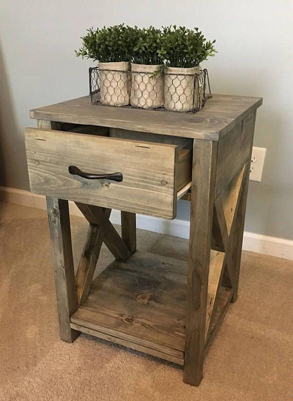 Latest Farmhouse End Table Design Ideas 11 Rustic