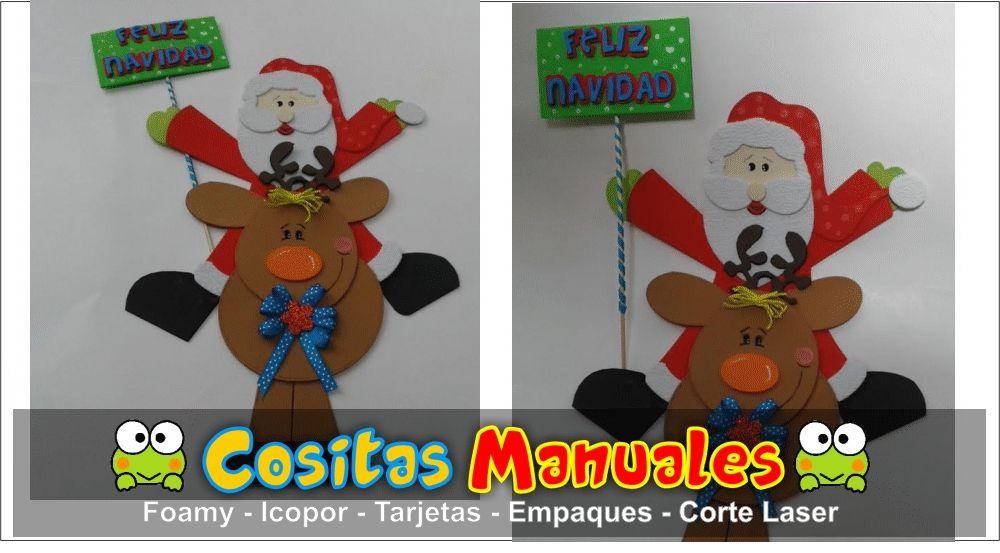 Papa Noel decoraciones Navideñas - jardines navideos
