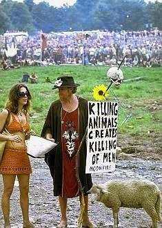 Woodstock 69 killing of animals creates the killing of men