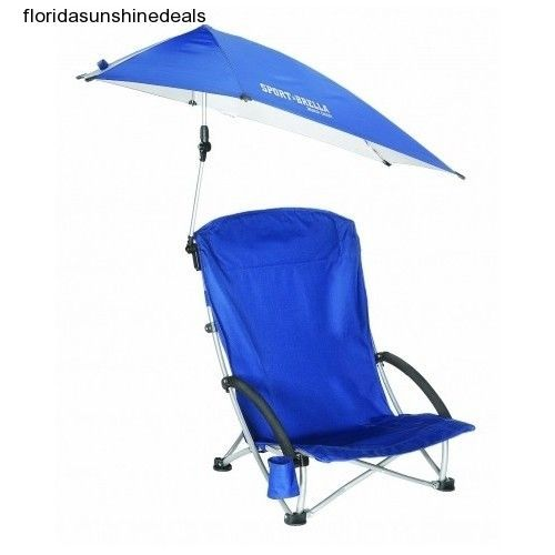 Portable Beach Chair Folding Canopy Umbrella Pool Patio Shade Uv Sun Protection