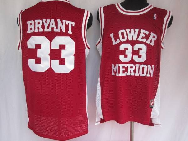 Lakers  33 Kobe Bryant Stitched Red Lower Merion High School NBA Jersey 82eaddca1