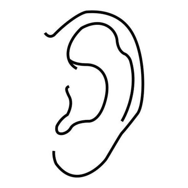 Ear Ear Coloring Pages for Kids Ear Coloring Pages For KidsFull