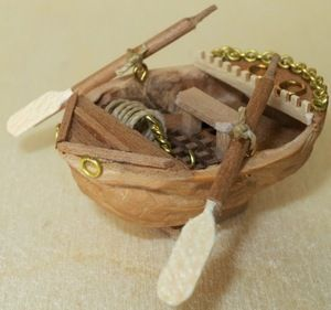 walnut shell boat