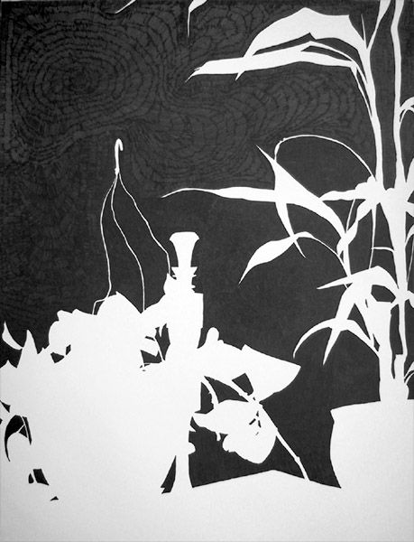 Art Negative Space Drawing Ideas