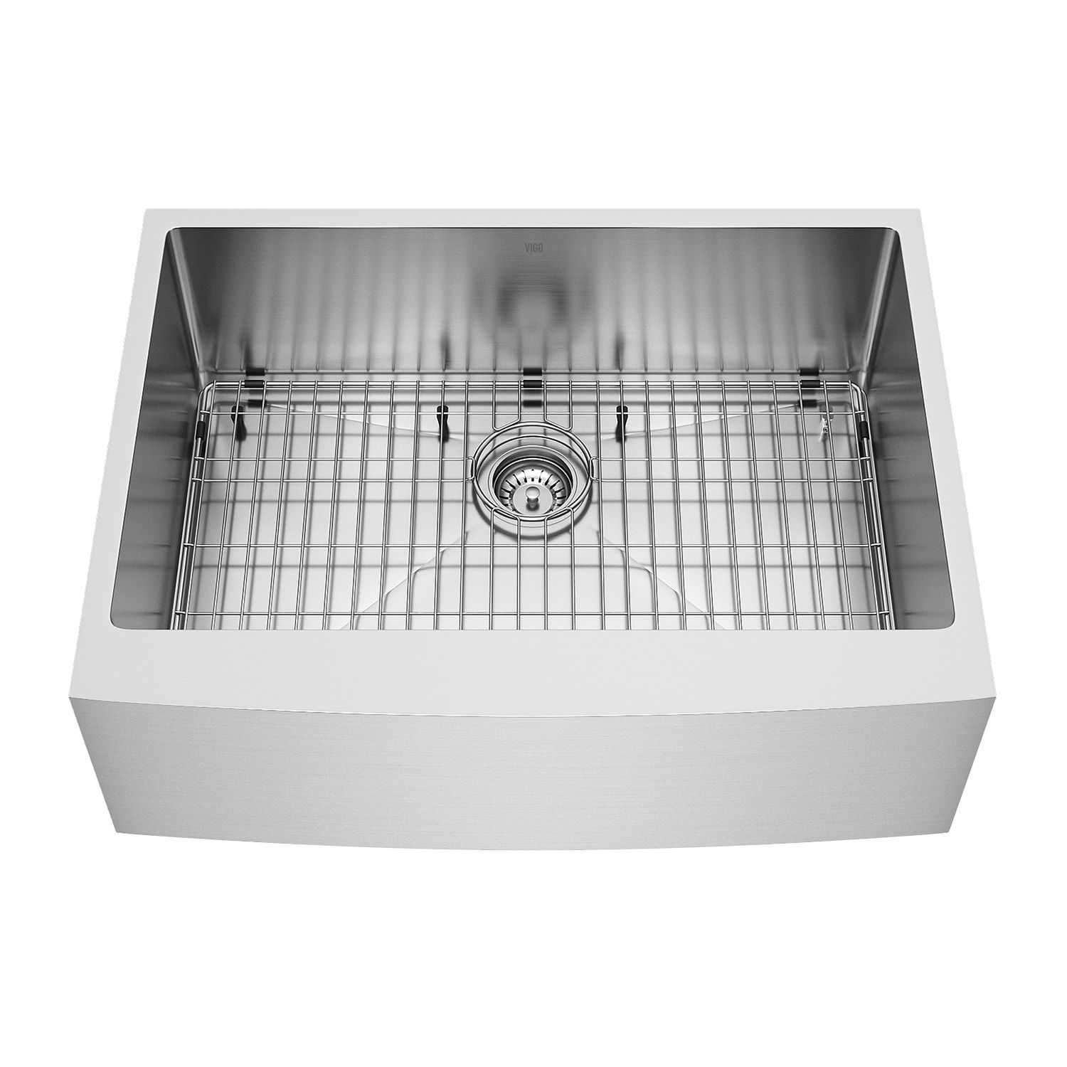 Vigo 30 Inch Bedford Stainless Steel Farmhouse Sink Grid And Strainer Final Ly Farmhouse Sink Kitchen Stainless Steel Farmhouse Sink Kitchen Fixtures