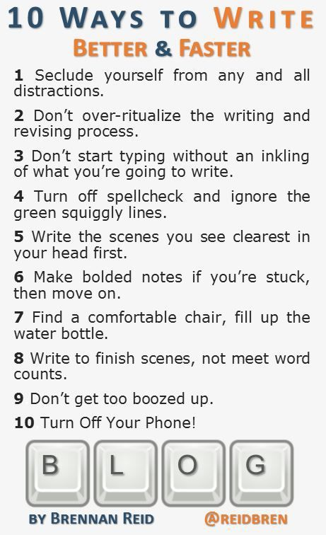 10 Ways to Write Better & Faster [INFOGRAPHIC]