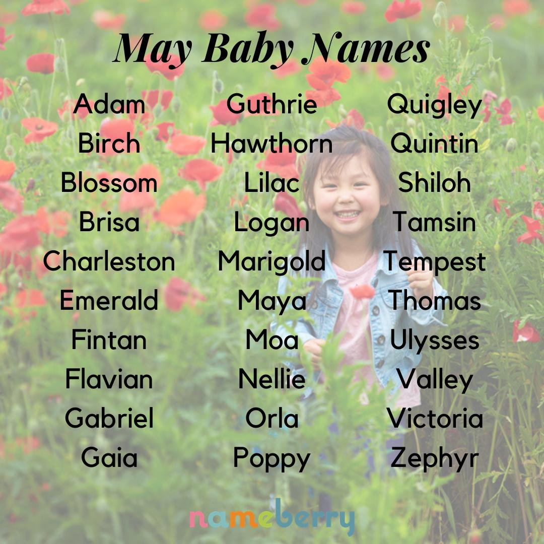 May Names Celebrate Spring!