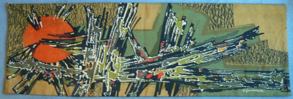 Grande Tapisserie Ancienne Rene Fumeron Samourai 1960 Atelier
