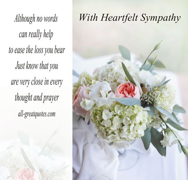 Free Sympathy Card Messages  With Heartfelt Sympathy  Sympathy