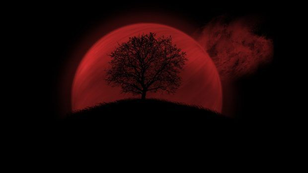 Red Moon Wallpaper Hd Wallpapers Backgrounds Images Art Photos Red Moon The Scottish Play Landscape Wallpaper