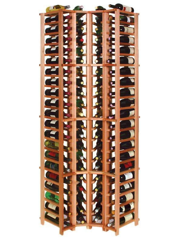 Classic 4 Column Br Segmented Corner 77 5 H Wine Rack