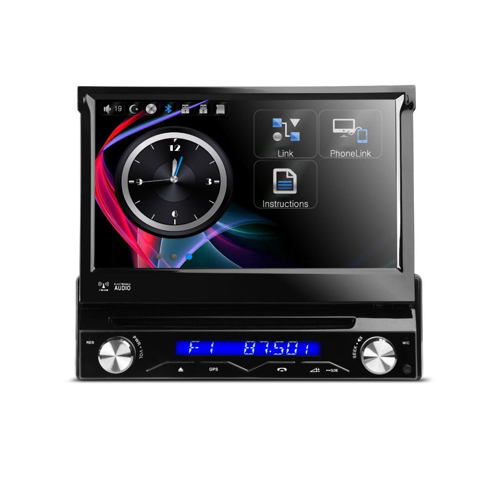 7 Motorized Detachable Hd Touch Screen One Din Car Dvd Player With Screen Mirroring Steering Wheel Control Bluetoo Car Dvd Players Screen Mirroring Dvd Player