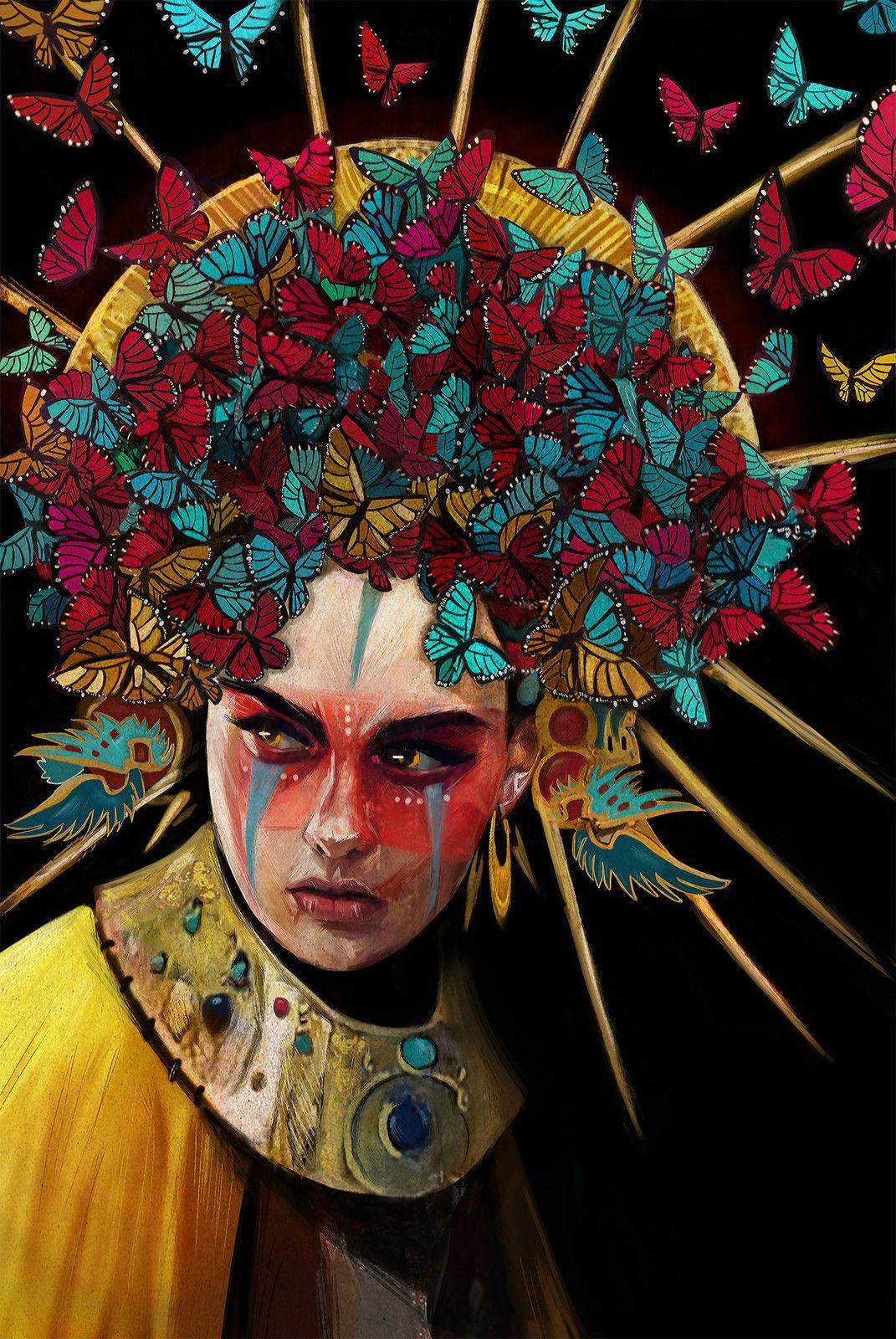 Awana, a Golden Warrior, chloe veillard on ArtStation at https://www.artstation.com/artwork/x656X