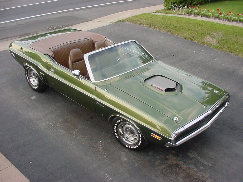 1971 Dodge Challenger Convertible Gf7 Green Metallic With H6t5