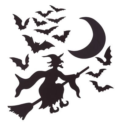 flying witch halloween garage magnet decorations 15