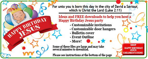 Christmas Children S Party Idea Happy Birthday Jesus Jesus Birthday Party Happy Birthday Jesus Party