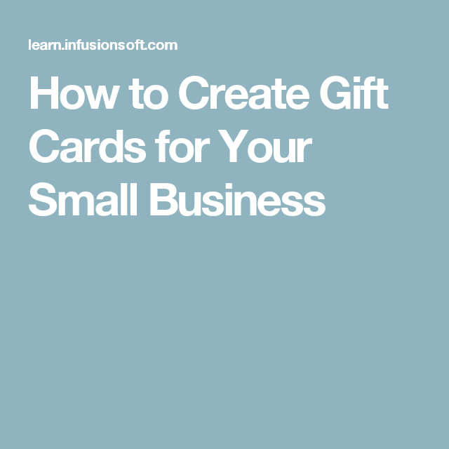 How to create gift cards for your small business the national for small businesses in any industry gift cards are easy and inexpensive to create plus gift cards can translate to even more revenue than their value colourmoves