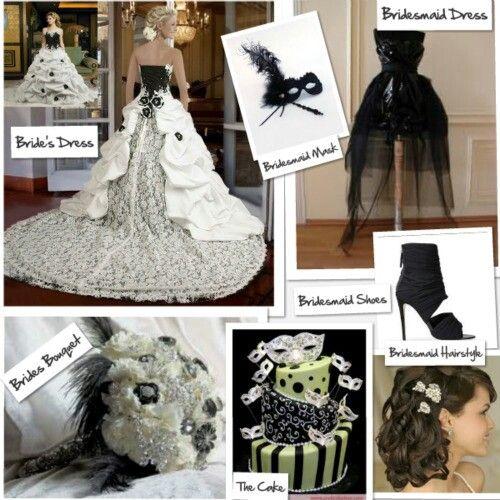 Phantom Of The Opera Themed Wedding.