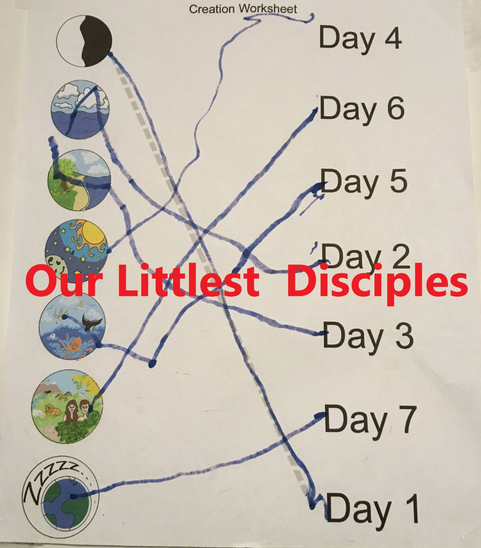 five short lessons to teach the bible creation story 7 days