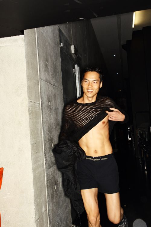 Emporio Armani SS13 Men Fashion Show Milan Backstage - sonny photos
