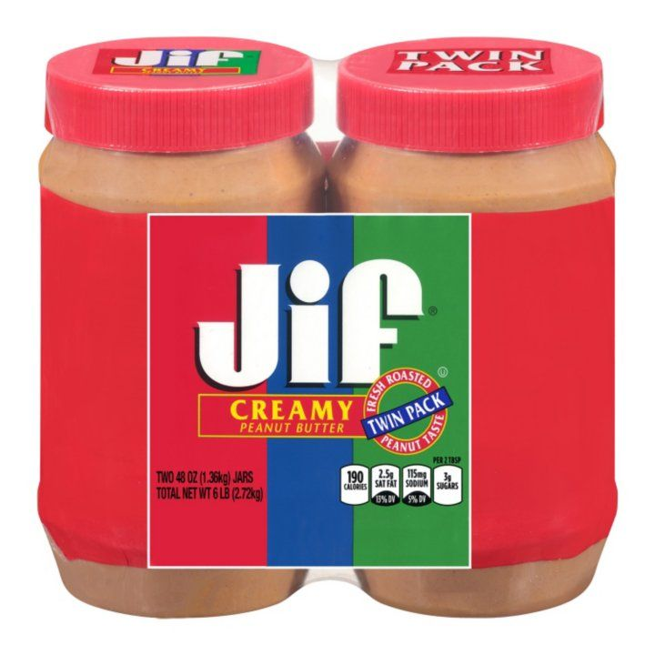 Sam's Club Creamy peanut butter, Jif creamy peanut