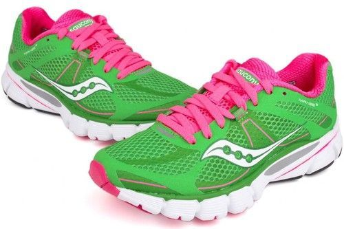 pink saucony running shoes