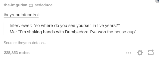 This honest job applicant. | 19 Really Funny Harry Potter Posts That You Maybe Haven't Seen Yet
