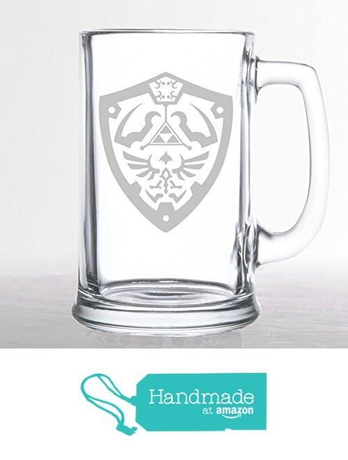 Hylian Crest Triforce - Etched Beer Mug The Legend of Zelda
