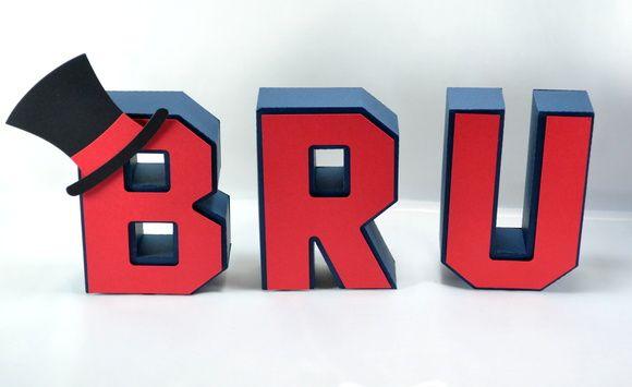 Letra 3D Circo