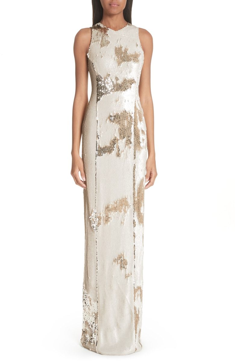 0fda28b00f18 Free shipping and returns on Galvan Sequin Column Gown at Nordstrom.com.  The sequins that cloak this elegant column dress can be brushed in any  direction to ...