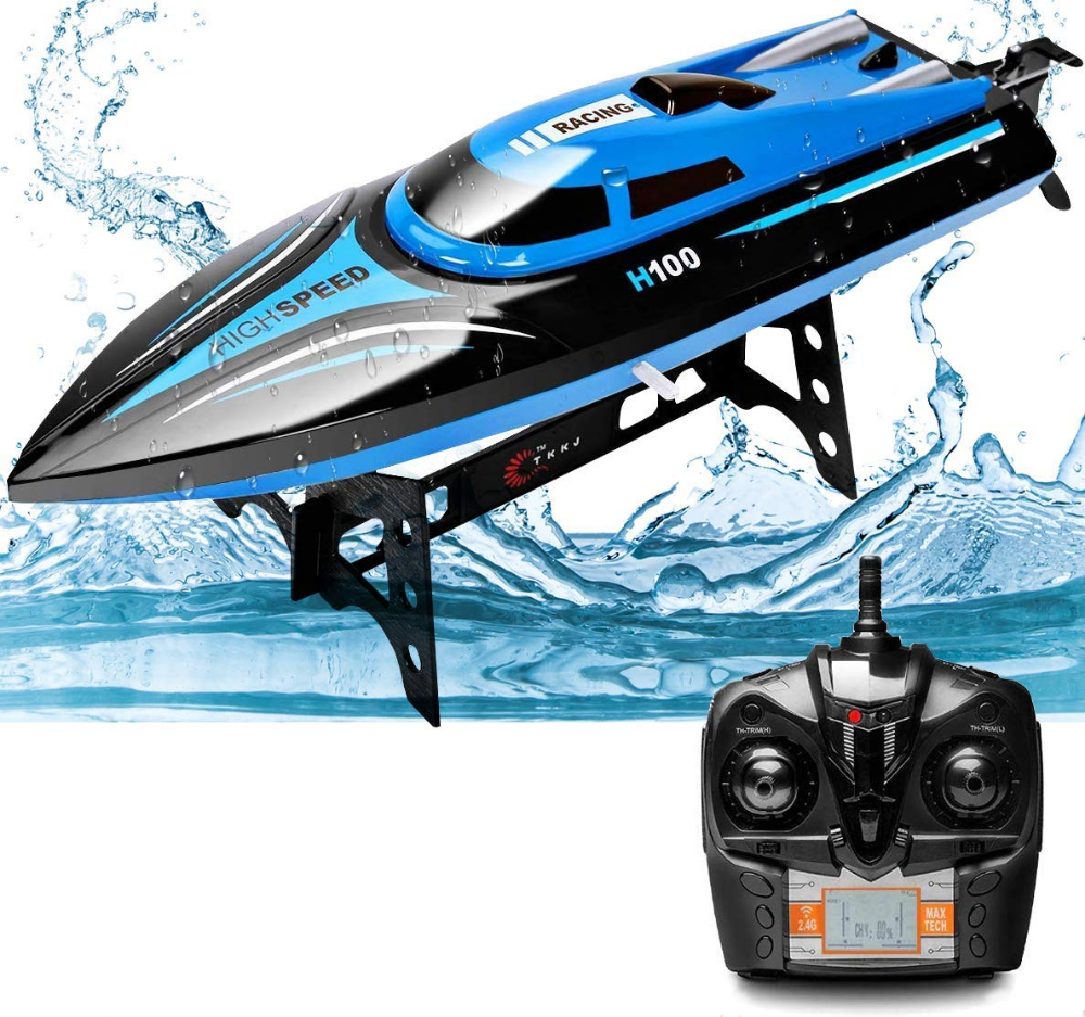 Rabing 2 4g Rc High Speed Pools Lakes Outdoor 30 Km H Radio Toys For Adults Kids 4ch Rechargeable Racing Boat By Remote Con Boat Race Remote Control Racing