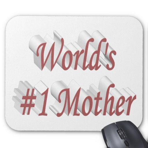 World's #1 Mother 3D Mouse Pads, Pink