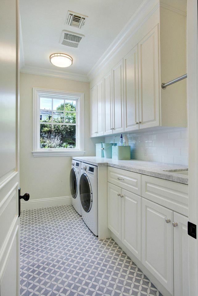 Laundry Room Flooring. Laundry Room Cabinet. Laundry Room Cabinet Paint  Color. Laundry Room Decor. #LaundryRoom Dtm Interiors.