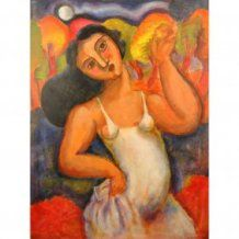 Dancing Girl Oil Painting Ca 1990s Bob Guccione Painting Art