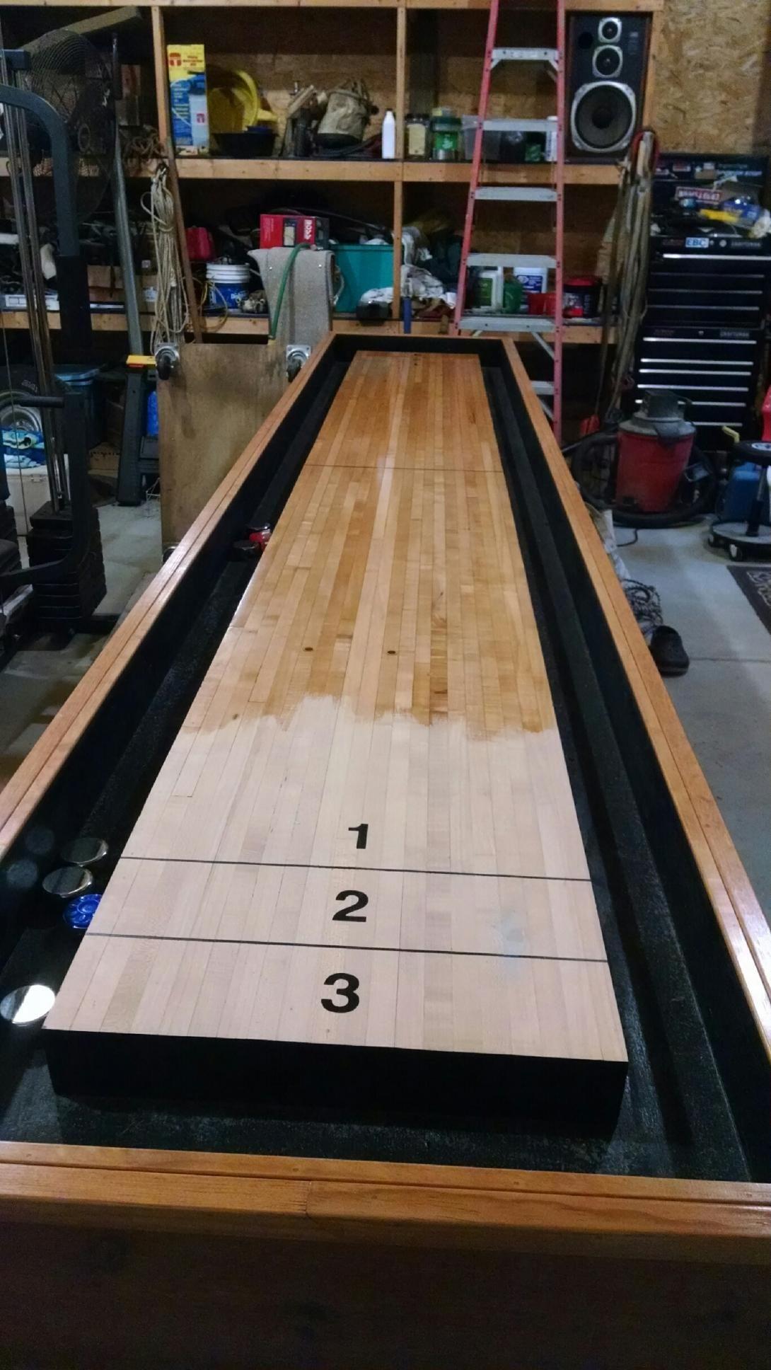 diy shuffleboard table reddit