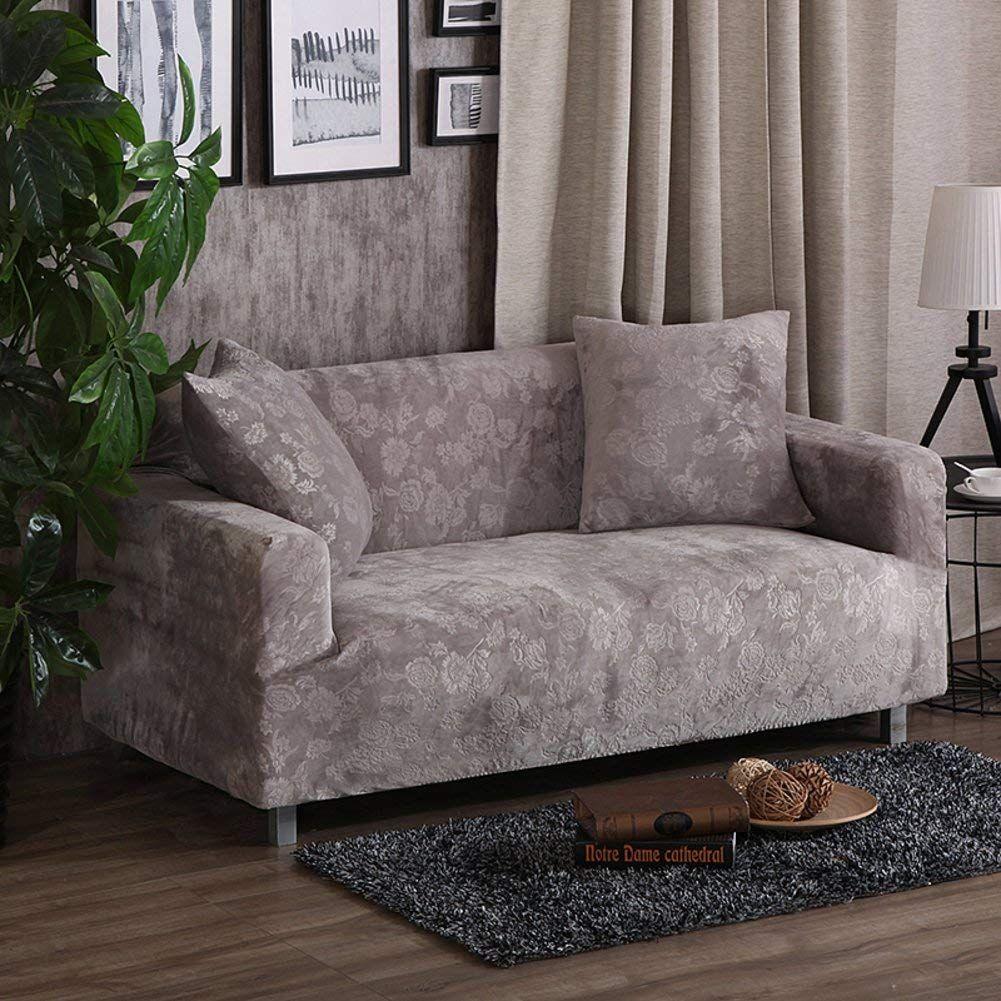 Amazon Com Elastic Slipcover Plush Sofa Slipcover All Inclusive