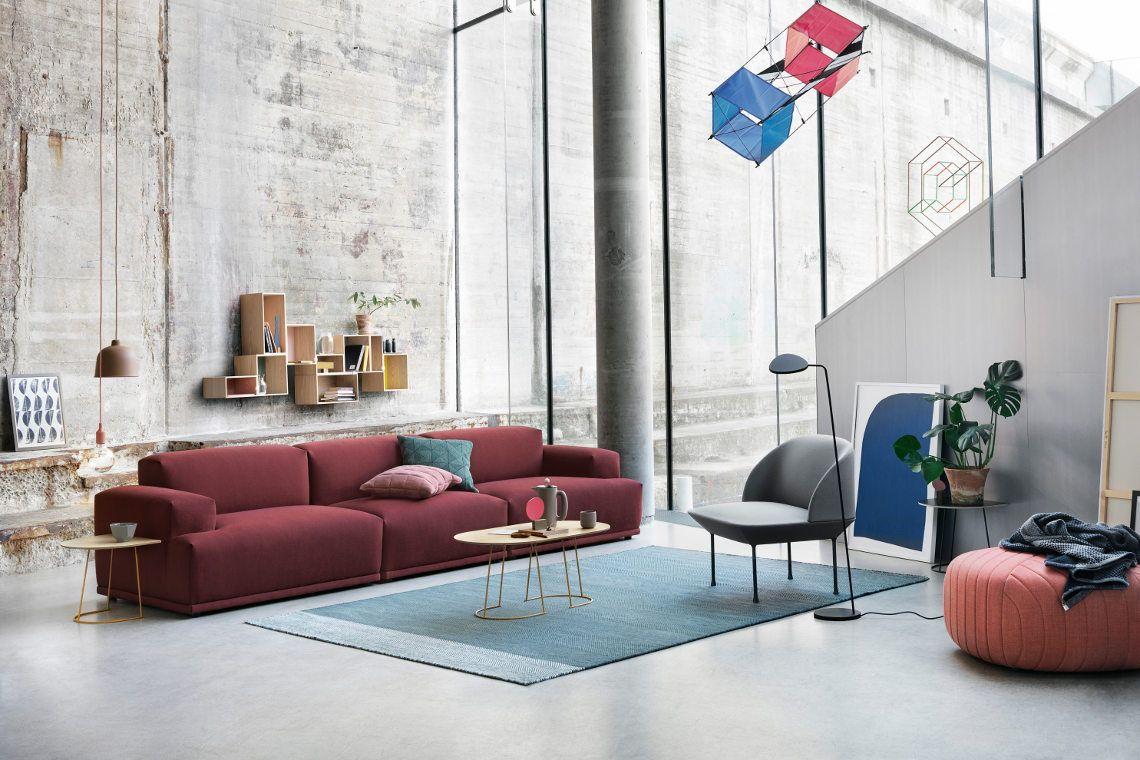 Klare Linien und coole Farben machen das moderne Wohnzimmer aus ...