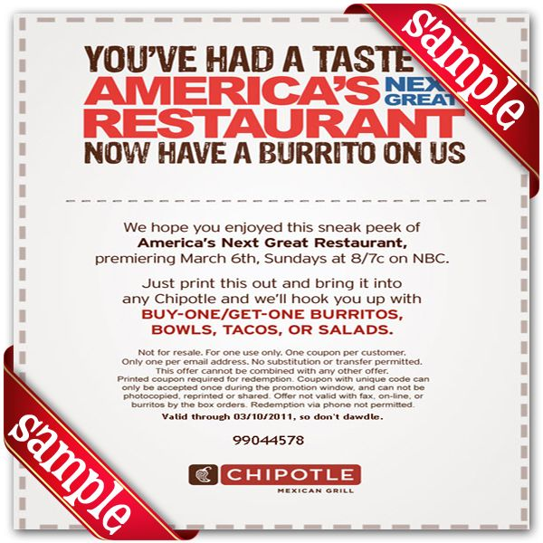picture about Chipotle Printable Coupon identify Chipotle Mexican Grill Printable Coupon December 2016