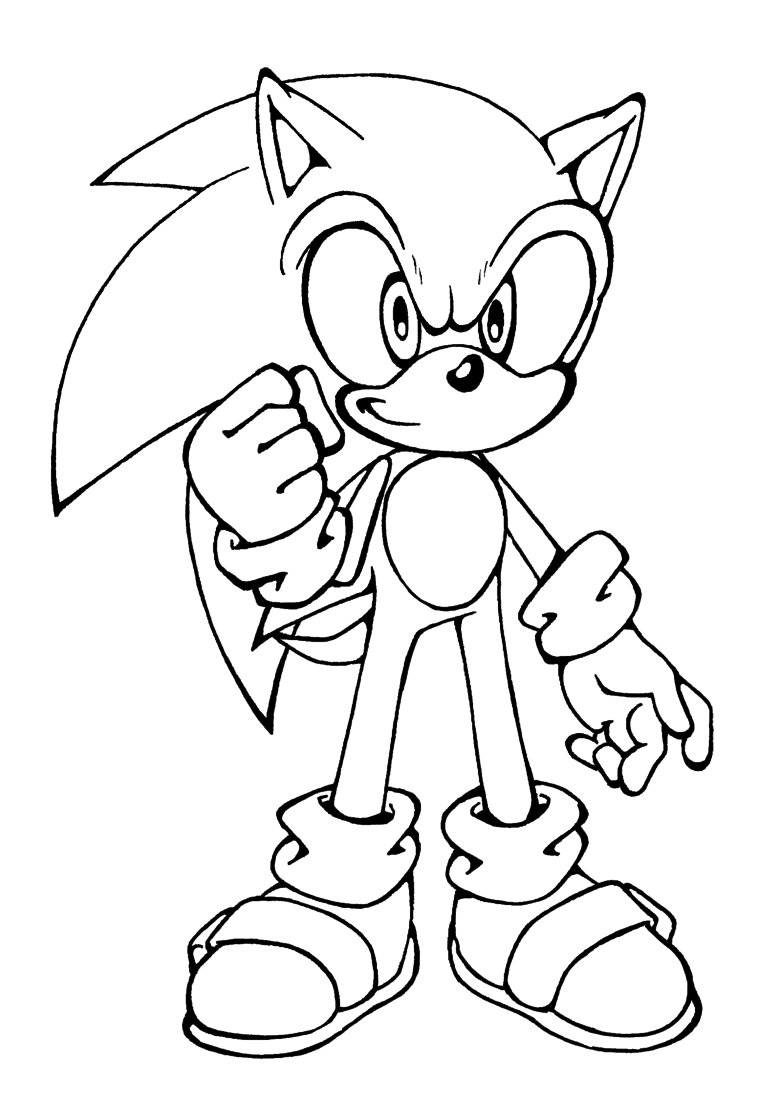 Template Sonic Hedgehog Coloring Pages