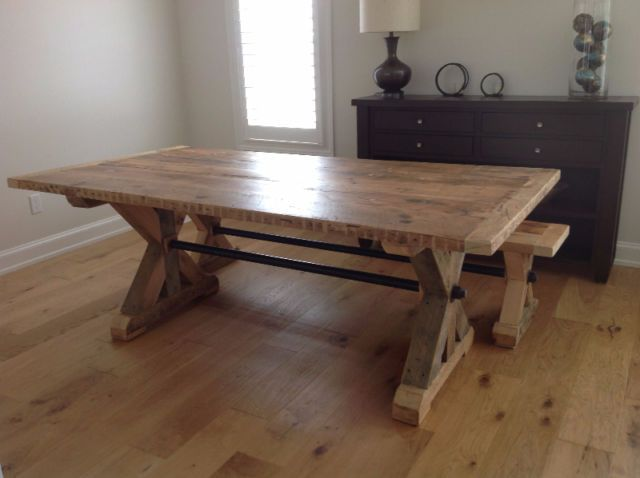 Reclaimed Wood Harvest Tables And More Dining Tables And Sets Oshawa Durham Region Kijiji Harvest Dining Table Dining Table Harvest Table