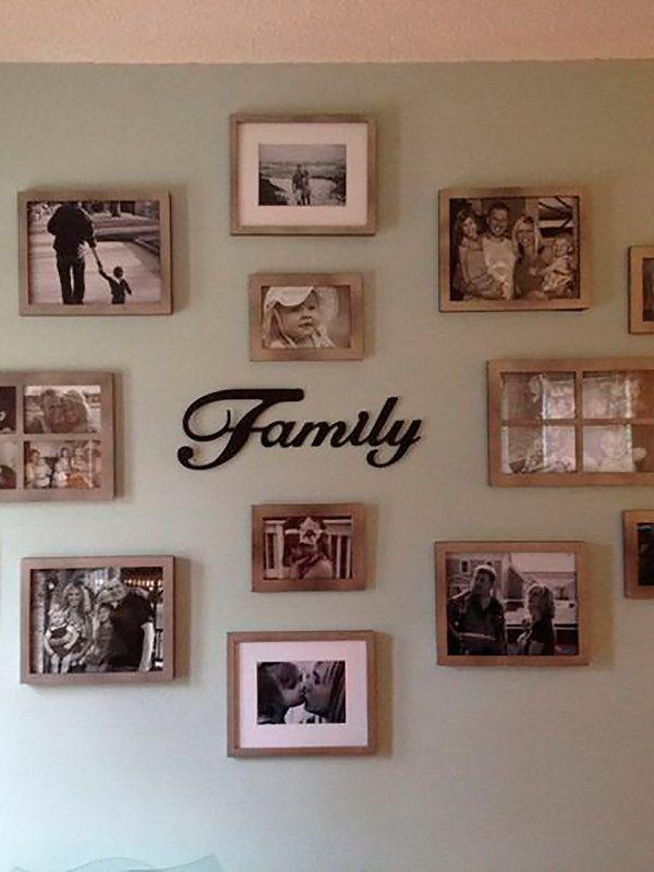 Ocho formas originales de colocar las fotos de familia | Pinterest ...