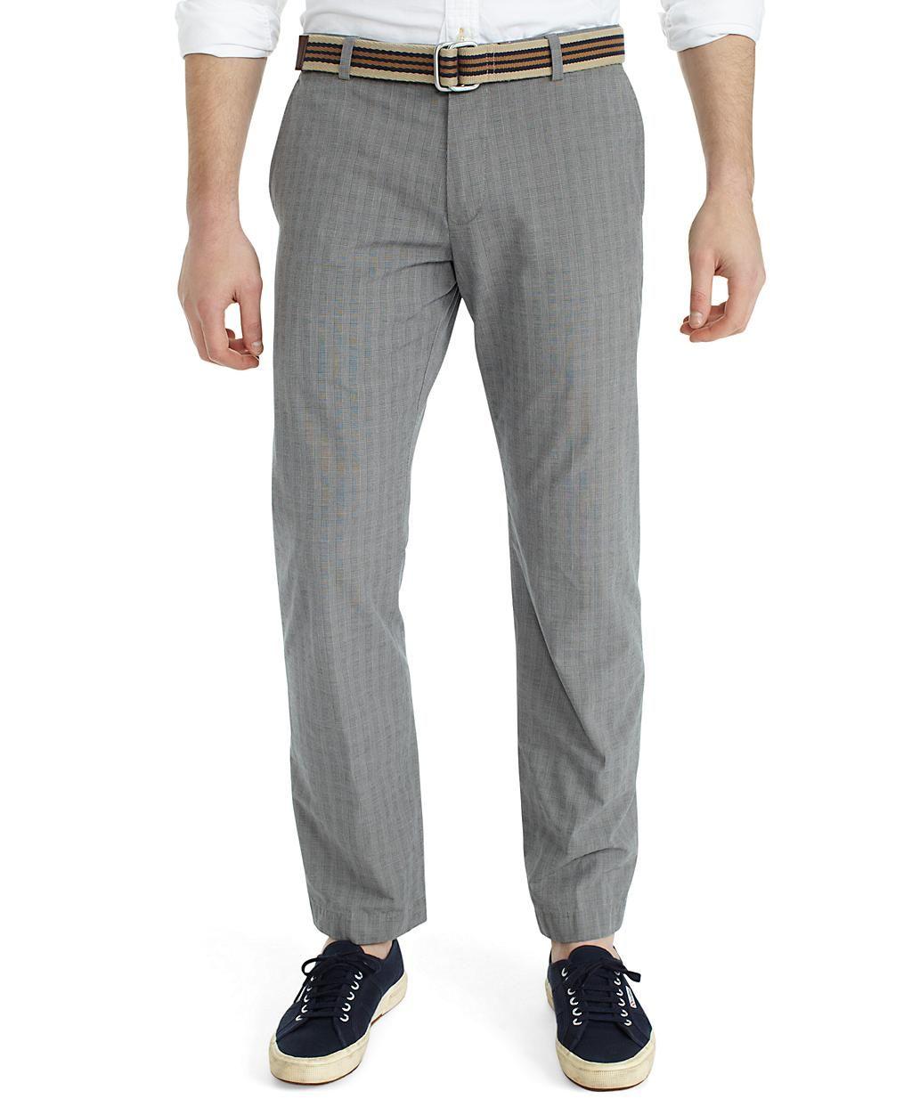 Brooks Brothers - Milano Plain-Front Plaid Pants