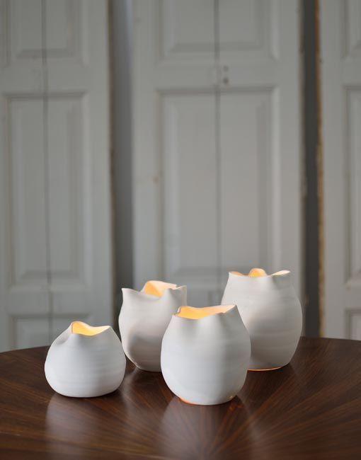 portavelas porcelana blanca - Buscar con Google