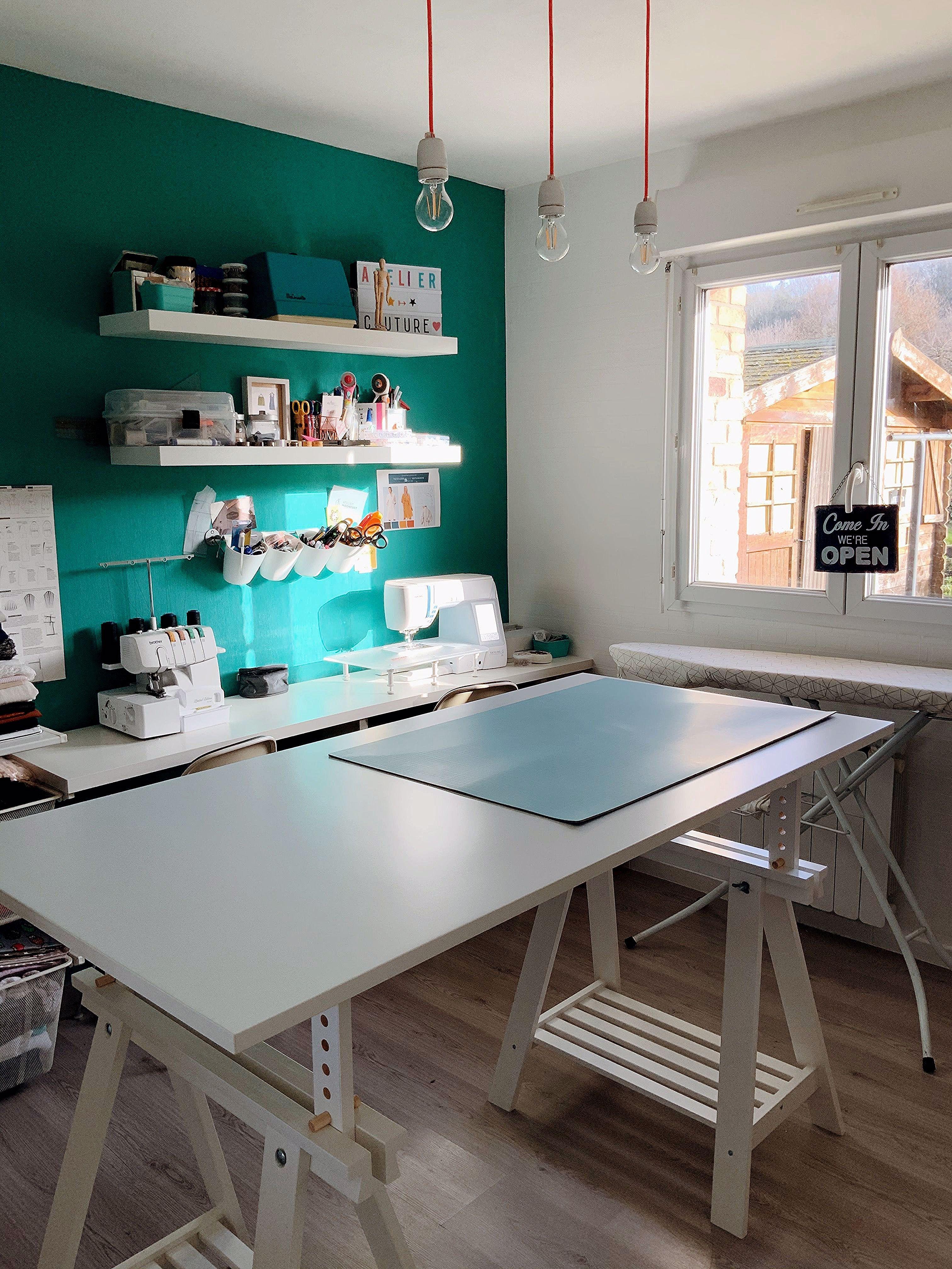 Aménagement atelier couture vestiaire12 #ateliercoutureamenagement