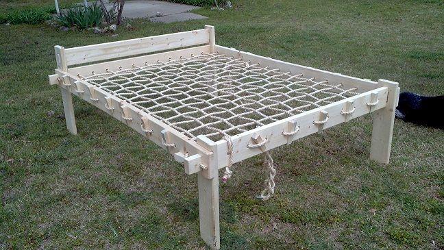 rope bed stuff for larp wikinger m bel bett und m bel bauen. Black Bedroom Furniture Sets. Home Design Ideas