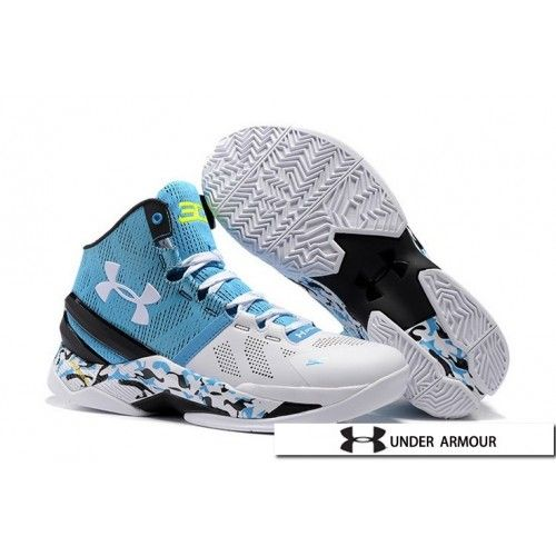 52b97f8b24d2 UA Curry 2 Shoes - 2016 New Under Armour UA Curry 2 Camo Blue Yellow White  Black Basketball Shoes