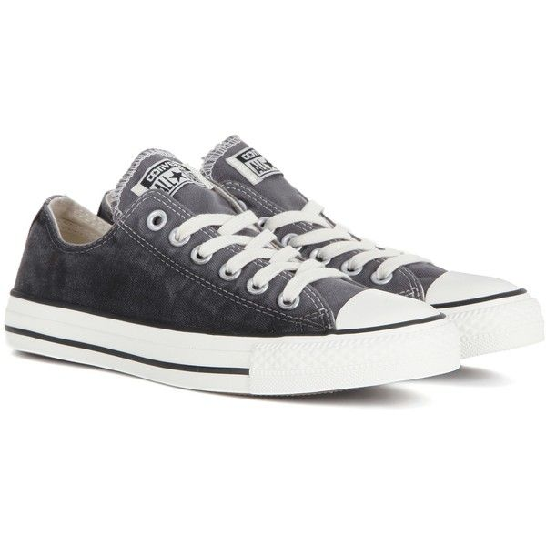 Converse Chuck Taylor All Star OX Sneakers (€77) ❤ liked on Polyvore featuring shoes, sneakers, grey, grey sneakers, converse footwear, converse sneakers, gray shoes and gray sneakers