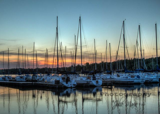 Sailboat Cove at Sunset by JewelsMari, via Flickr