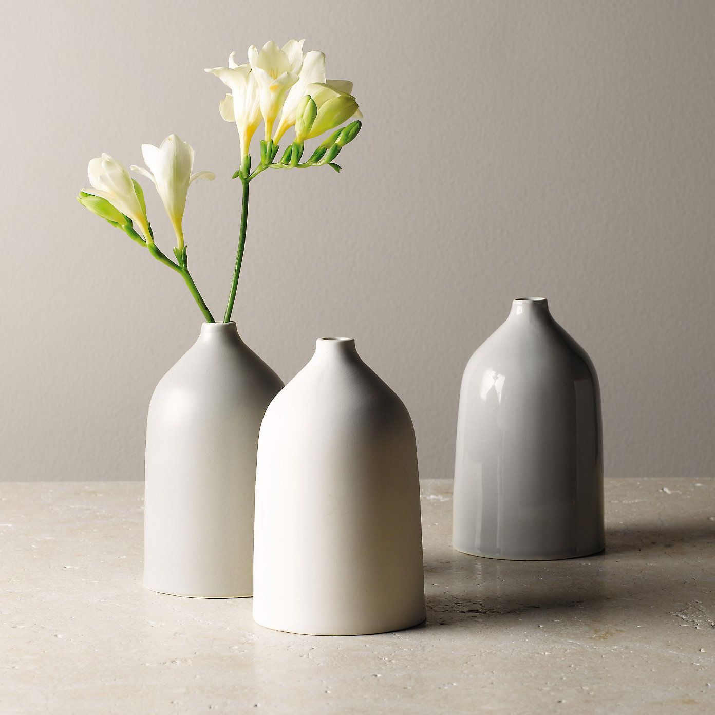 ceramic vases  set of   the white company   table top  - ceramic vases  set of   the white company