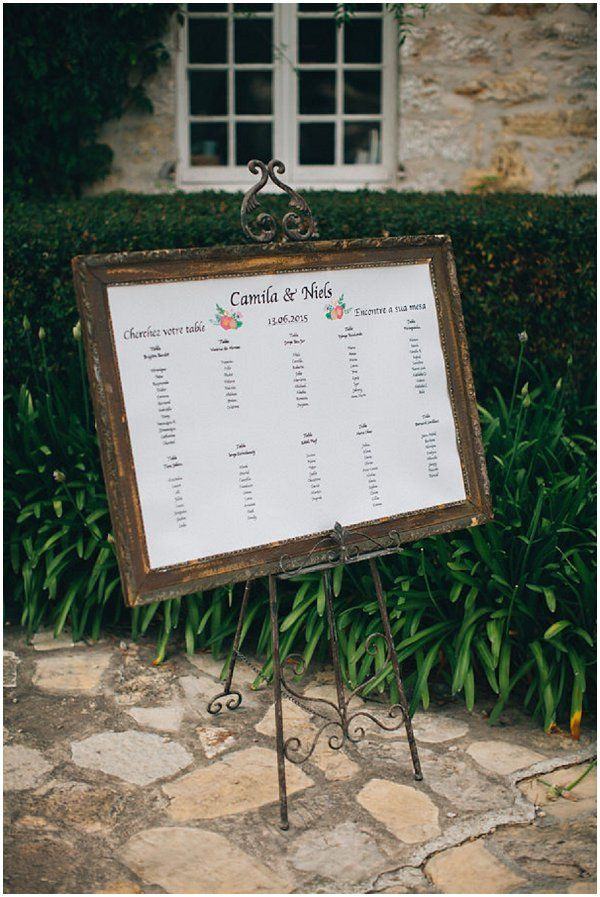 Rustic Frame wedding table plan  | Image by Reego Photographie, see more http://goo.gl/Gvqss1
